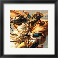 Napoleon Raptor Crossing the Alps Framed Print