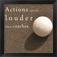 Framed Actions Speak Louder than Coaches