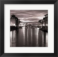 Framed Golden Ponte Vecchio
