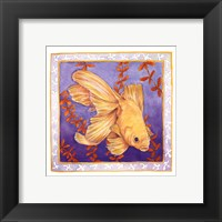Framed Goldfish On Purple