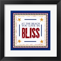 Beach Bliss Framed Print