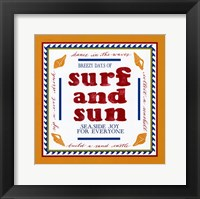 Framed Beach Surf