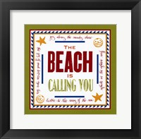 Beach Calling Framed Print
