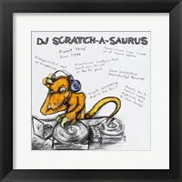 Framed DJ Scratch-A-Saurus
