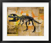 Framed T Rex Skeleton Collage