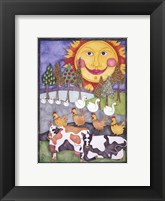 Framed Old MacDonald Cows