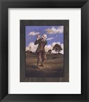 Framed Victorian Golfer - Man