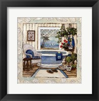 SEA BREEZE BATH I Framed Print