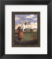 Framed Victorian Golfer - Woman