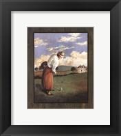 Framed Victorian Golfer - Woman