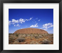 Framed Rock formation, Ayers Rock, Uluru-Kata Tjuta National Park, Australia