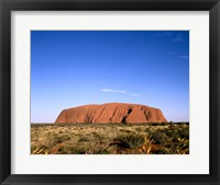 Framed Rock formation on a landscape, Uluru-Kata Tjuta National Park, Australia