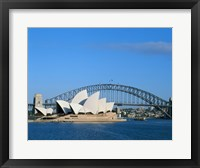 Framed Opera house on the waterfront, Sydney Opera House, Sydney Harbor Bridge, Sydney, Australia