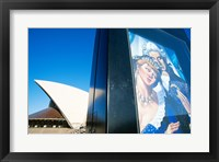 Framed Poster in front of an opera house, Sydney Opera House, Sydney, Australia