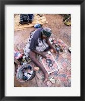 Framed Female artist painting, Alice Springs, Northern Territory, Australia