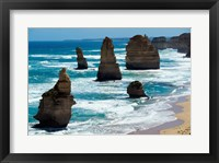 Framed Rock formations on the coast, Twelve Apostles, Port Campbell National Park, Victoria, Australia