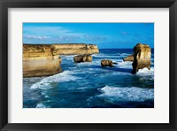 Framed Rock formations on the coast, Port Campbell National Park, Victoria, Australia