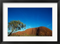 Framed Rock formation on a landscape, Ayers Rock, Uluru-Kata Tjuta National Park, Northern Territory, Australia
