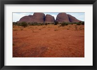 Framed Rock formations on a landscape, Olgas, Uluru-Kata Tjuta National Park, Northern Territory, Australia Closeup