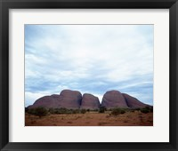 Framed Rock formations on a landscape, Olgas, Uluru-Kata Tjuta National Park, Northern Territory, Australia