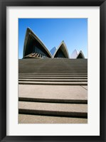 Framed Low angle view of an opera house, Sydney Opera House, Sydney, New South Wales, Australia