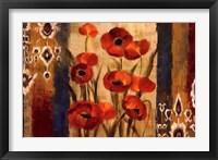 Framed Ikat Floral Tapestry