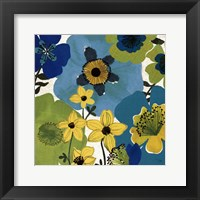 Garden Brights Cool IV Framed Print