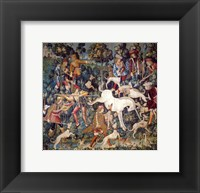 Framed Hunt of the Unicorn Tapestry