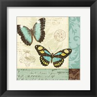 Butterfly Patchwork II Framed Print