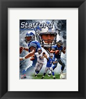 Framed Matt Stafford 2011 Portrait Plus