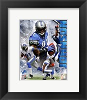Framed Calvin Johnson 2011 Portrait Plus