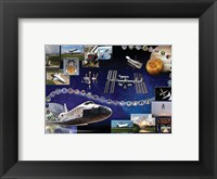 Framed Space Shuttle Atlantis Tribute Poster