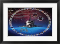 Framed Space Shuttle Discovery Tribute Poster