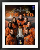 Framed STS 118 Mission Poster