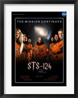 Framed STS 124 Harry Potter Crew Poster