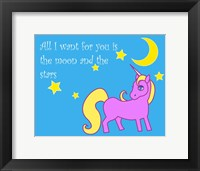 Framed Moon and Stars Unicorn