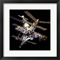 Framed Mir Space Station From Below