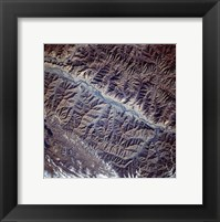 Mountain Range from Space Framed Print