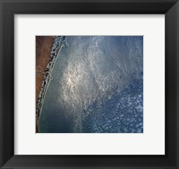 Ocean wave forms of the coast of Mexico Framed Print