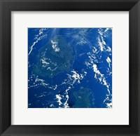 Reef Base as seen from space taken by Atlantis Framed Print