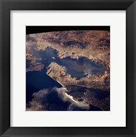 San Francisco taken from space by shuttle columbia Framed Print