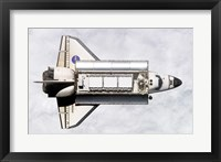 Framed Shuttle Delivers ISS Module