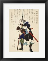 Samurai Standing with Sword Framed Print