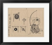 Framed Japanese archer 1878b