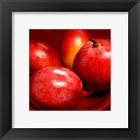 Red Mangoes Framed Print