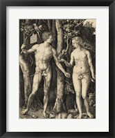 Framed Adam and Eve in the garden