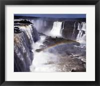 Framed Rainbow over a waterfall, Devil's Throat, Iguacu Falls, Iguacu River, Parana, Brazil