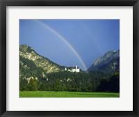 Framed Rainbow over a castle, Neuschwanstein Castle, Bavaria, Germany