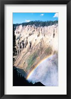 Framed Rainbow over a canyon, Grand Canyon, Yellowstone National Park, Wyoming, USA