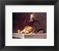 Framed Willem Van Aelst  Still Life with Mouse and Candle